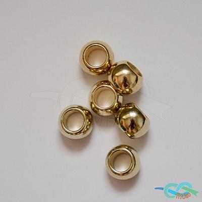 korálky střední metalické zlaté