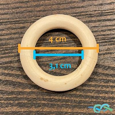Dřevěný kroužek 4 cm